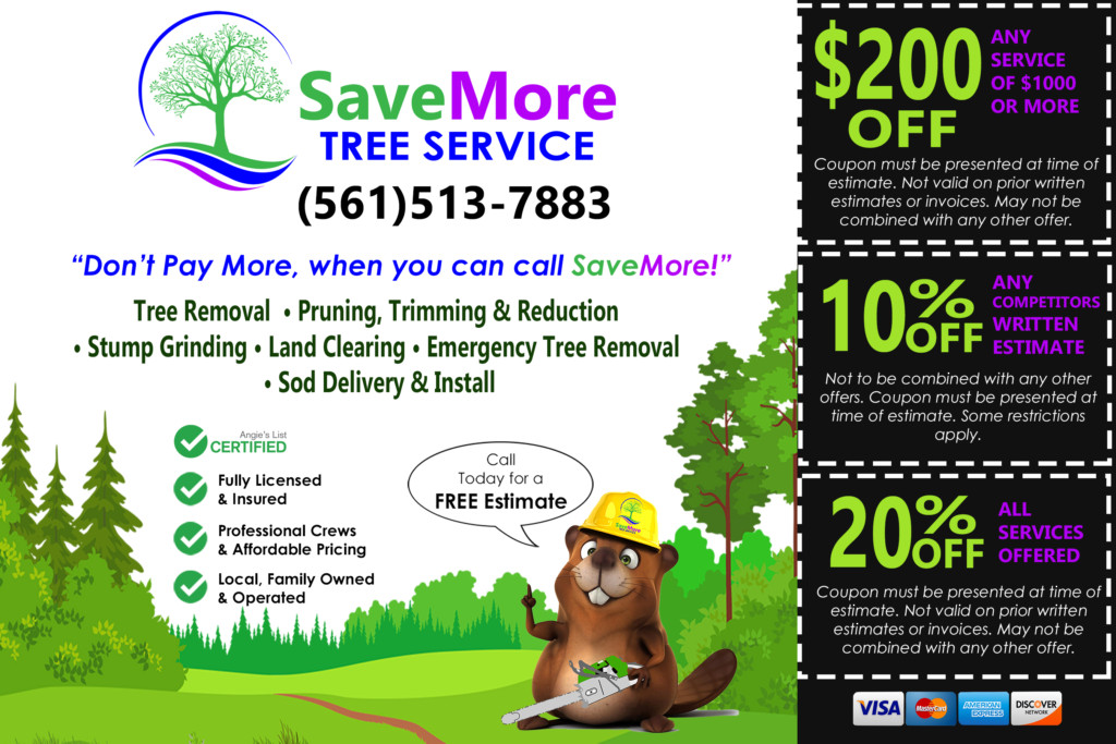 Tree Service Coupon Palm Beach County - SaveMore Tree Service