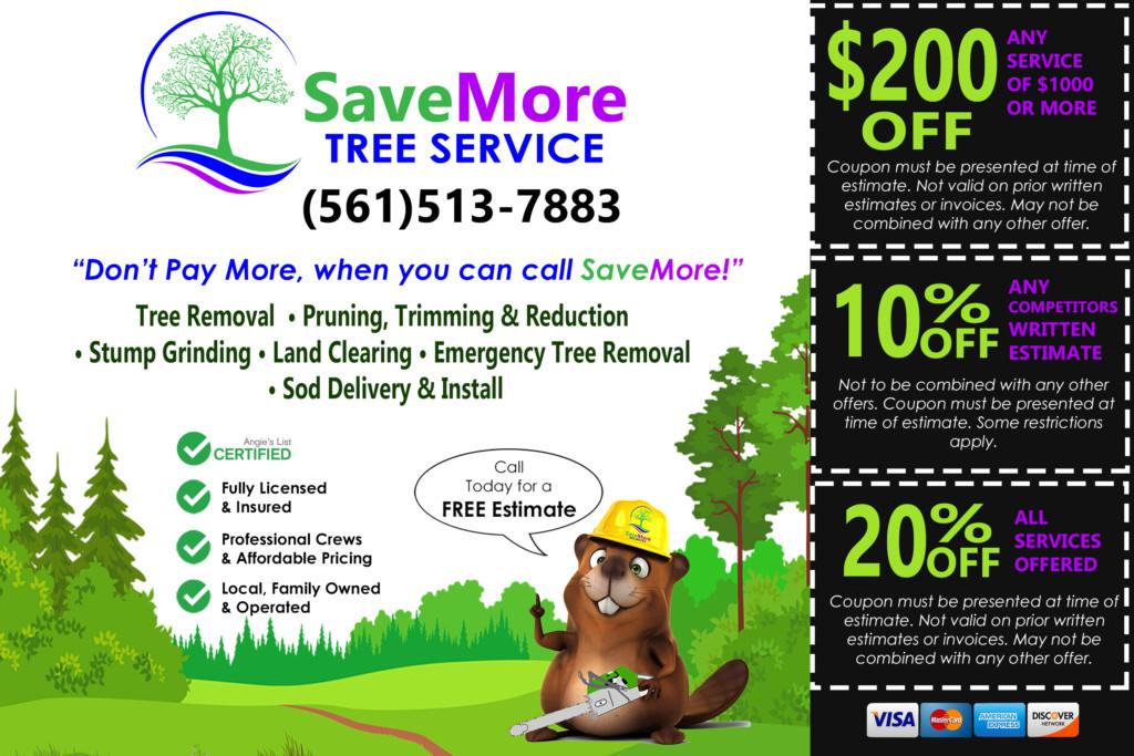 Tree Service Coupon Palm Beach County - SaveMore Tree Service